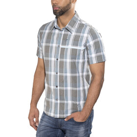 Shimano Transit Check Button Up SS Shirt Men Aegean Blue